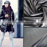 Factory wholesales 2014 new design shiny pu Waterproof nylon taffeta fabric for garment lining, suit,down jacket and proof coat