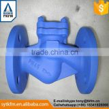 2015 TKFM hot sale city water supply pipeline use api6d carbon steel double plate check valve