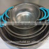 Hot Sell Hot Sell Food Grade Stainless Steel Mesh Strainer & Colander with silicone handle