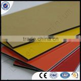 3mm*4ft*8ft PE coated golden Indoors decoration for interior walls aluminum composite panels