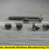 Six-lobe recess flat head screw