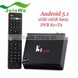Google android 5.1 smart tv box Quad-Core KII PRO DVB T2 S2 Android 5.1 2GB RAM 16GB ROM S905