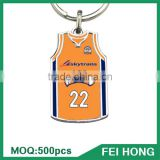 China Supplier sports jersey basketball t shirt printed cheap keychain