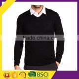 V-neck long sleeves 16GG plus size wholesale men's brand winter clothes