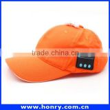 Factory Price Phone Accessory Wireless Bluetooth Sport Cap/Hat. Music Headset Earphones Canvas Baseball Cap Hat