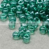 11/0 Glass Seed Beads, Transparent Lustered, MediumSeaGree Micro Beads(SEED-Q011-F520)