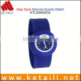 Shenzhen Factory Custom Design Promotion Silicone Slap Watch
