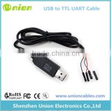 USB TTL 3.3V 5V Serial Cable UART FTDI RS-232RL COM Converter Header Cable Factory Price
