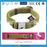 LF Wholesale High Quality Comfort Lint Lined Hemp Dog Collar with Quick Release Metal Buckle