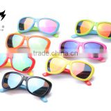 Soft silicone material children sunglasses with color film Kids glasses