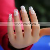 2015 Newest Hot Glitter Foils Lace Nail Stickers Decal Manicure Tips DIY Decoration Nail Art
