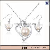 Bulk buy from china,925 sterling silver pearl wedding jewelry