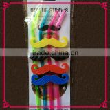 Decorative Mustaches plastic Drinking Straws for Home Houseware Bar Accessories