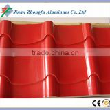 RAL color painted aluminium sheet for roofing corrugated colorful aluminum plate per square price