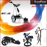 Motorized Golf Trolley With 36 Holes Battery ,LED Digital Handle .10M.20M.30MDistance .EZ-Fold ..USB Port .200W High Power Motor
