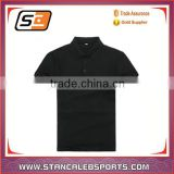 stan caleb china custom sportwear factory blank uniform soft dry fit black polo shirt/t-shirt