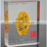 classical transparent acrylic polyester resin display, chinese traditional acrylic display