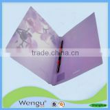 YiWu new design hard pp cover Purple cover a3 file folder ,file folder supplier and manufacture