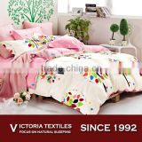 Brand New Trendy Teen Girls Hears Colorful Leaves Trees Quilt Duvet Set Bedding With Bright Pink Sheets set