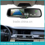 4.3 inch Rear view mirror adjust guideline automatical brightness with compass/Temperature parking sensor and bluetooth