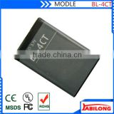bl-4ct 860mAh lithium ion battery for NOKIA 2720F 5310XM 5630XM 6600F 6700S 7205 7210C 7210S 7230 7212C 7310C X3 X3-01 X3-00