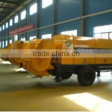 China famous motor engine truck mounted used stationary concrete pump for sale