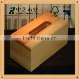 Trade assurance custom unfinished wooden tissue box wholesale