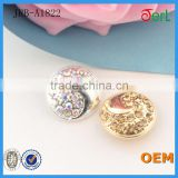 Hot Sales Popular Customized Alloy Rhinestone Buttons with Crystal for Jeans T-shirt Decoration
