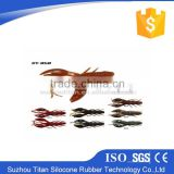 2015 New Arrival segment trout hard body soft tail fin fishing lure