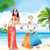 Colorful hawaii hula dance straw skirt(AM-HWD02)