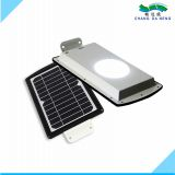 Garden outdoor solar powered pathway wall mounted gutter led landscape integrated 5w street light