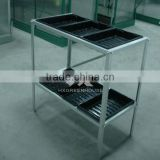 Widely used garden greenhouse portable staging with seed trays for sale HX56 series