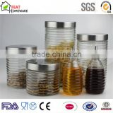 High quality glass oil vinegar bottle pasta storage canister jar