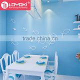 Lovely fish shape wood sticker Home Accessories 3d Wall Decoration for kids room Wall Murals home decor