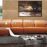Bisini Hotel Lobby Modern Leather Sofa Set (BG90468)
