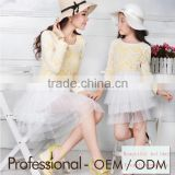 French romantic nice lace dress for mother and daughter, mother and daughter dress clothing sets