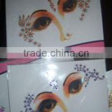 CRYSTAL STICKER face eye corner TATTOO card