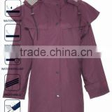 3/4 Hooded Horse Riding Rain Coat for women