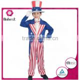 Customized teenages USA magician boy costumes with hat