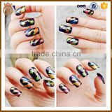 2017 New 3D Shining Glassine Art Nail Sticker and Nail Art Sticker Decoration