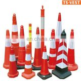 Road Safety Cone,Fluorescent Orange PVC Road Traffic Cone,retractable elastic traffic cone