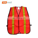 120gsm mesh fabric men bright orange safety vest