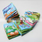 Factory supplier 6 series educational Baby Cloth Book Fabric simple book for kids