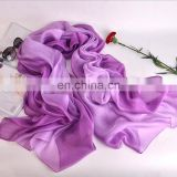 2017 summer silk gradient dyeing scarves turbans sun women beach shawl