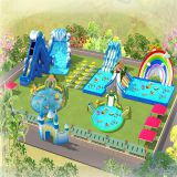 Giant inflatable commercial water park, kids inflatable water park sports games