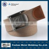 1.5 inch custom logo man jeans polycotton canvas belt