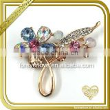 Crystal AB flower wedding brooches rhinestone korean sherwani brooch FB-052