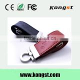 Leather wholesale full capacity USB Flash Drive 4GB 8GB 16GB 32GB keychain Pendrive 32GB flash Memory stick Pen Drive