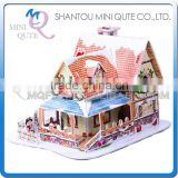 Mini Qute Christmas Cabin building blocks 3d paper puzzle diy model cardboard jigsaw puzzle game educational toy NO.B368-1
