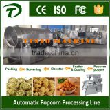 Automatic flavored popcorn production line for making puffed popcorn with large capacity